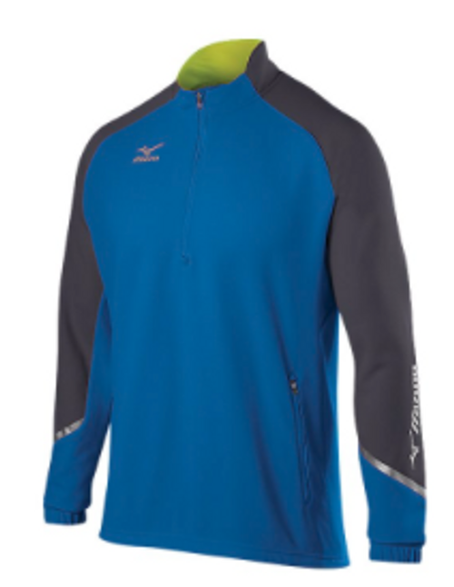 Mizuno Elite 1/2 Zip Pullover 350620 ROYAL-CHARCOAL 5292