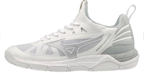 Mizuno 430266 Women's Wave Luminous Volleyball Shoe White Silver 0073