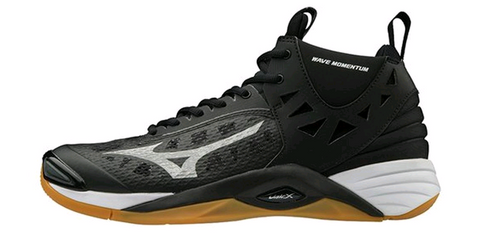 Mizuno 430262.9073 Men's Wave Momentum Mid Volleyball Shoe Black Silver