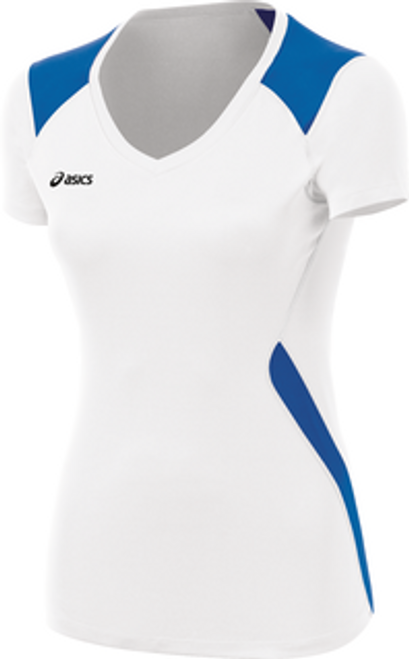 Asics Girls Youth (BT2158) Set Volleyball Jersey White Royal 0143