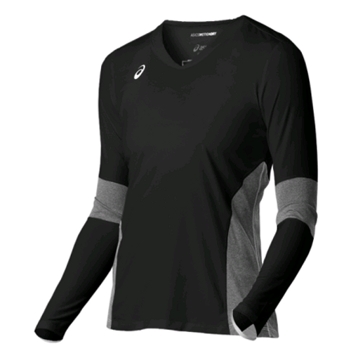 Asics (BT3279.9099) Decoy LS Volleyball Jersey BLACK HEATHER GREY
