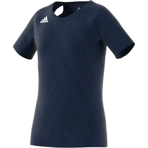 Adidas Youth Girls Volleyball Jersey Quickset Cap Sleeve  COLLEGIATE NAVY/COLLEGIATE NAVY/WHITE DP4350
