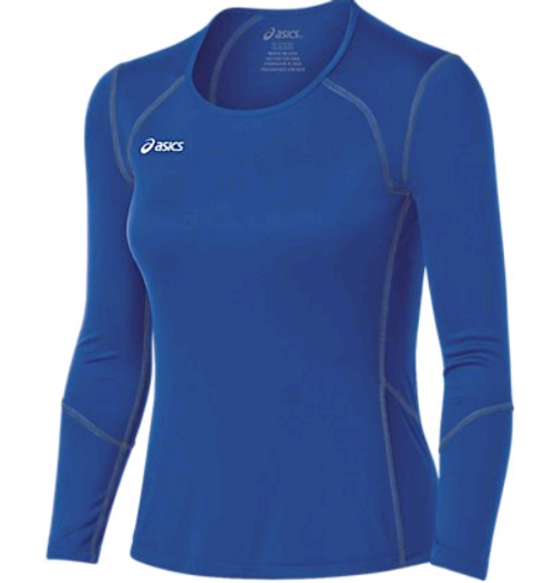 Asics (BT2510-BT2511) Volleycross Long Sleeve ROYAL STEEL GREY 4394