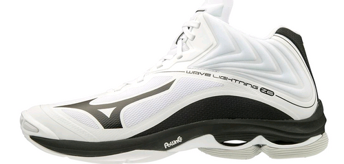 Mizuno 430282.0090 Mens Wave Lightning Z6 Mid Volleyball Shoe White Black