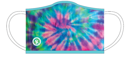 Rox Face Mask Basic -2-Ply Happy Tie Dye ART# R07671-20