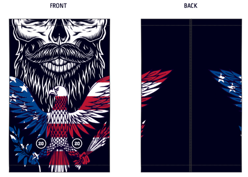 Rox Mens Neck Buff | Eagle Flag & Skull