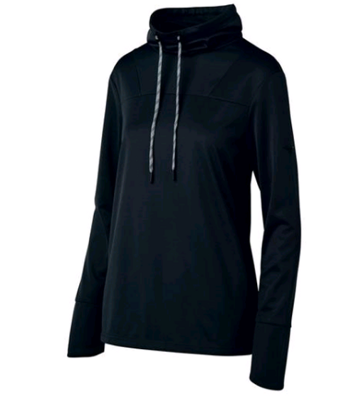 Mizuno April Ross Funnel Neck Pullover (440684)  Black