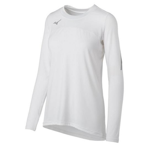 Mizuno Techno Volley VII Long Sleeve Volleyball Jersey White 440681_0000