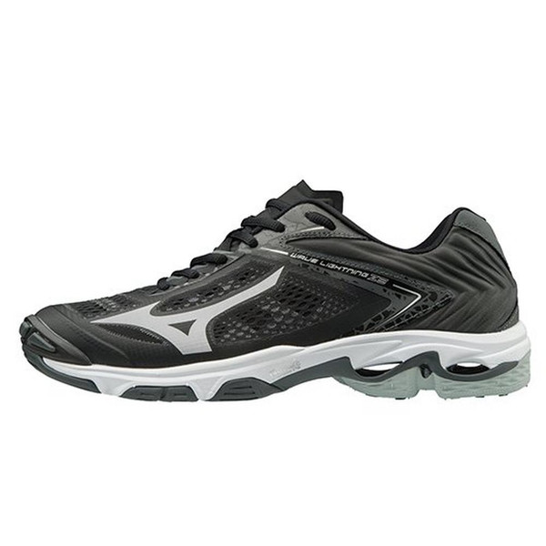 Mizuno Women's Wave Lightning Z5 Volleyball Shoe Black Silver 430263.9073