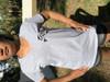 Women's V-neck cotton short sleeve shirt
