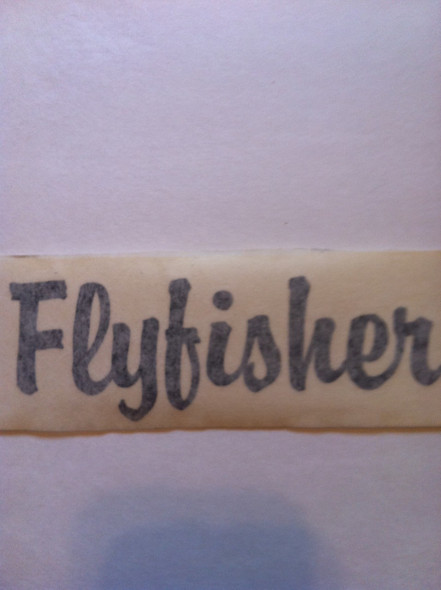 Flyfisher Decal Pair