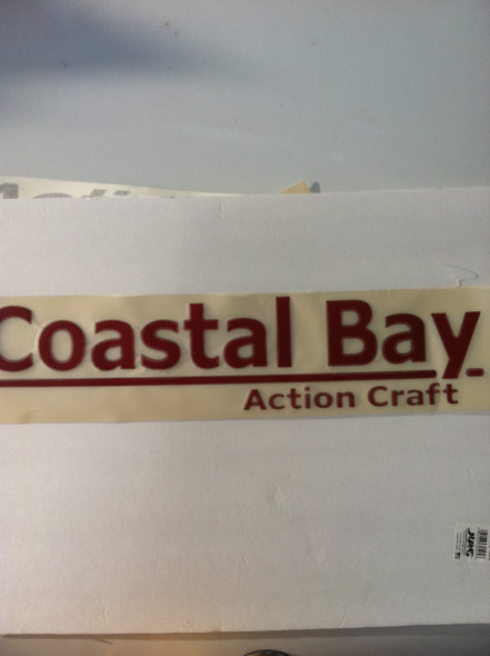 Coastal Bay Raised Decal Pair