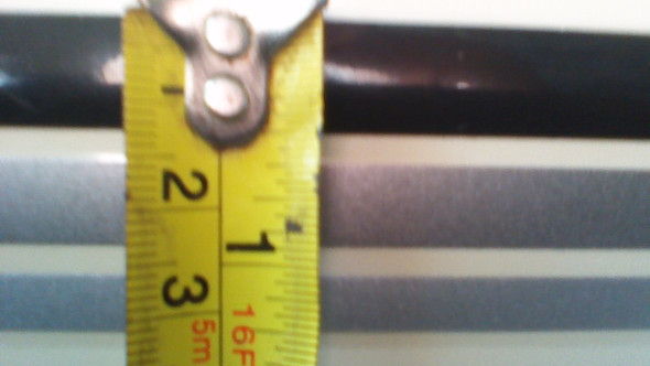3-1 pin stripe Silver, Black, Charcoal Gray color scheme. 50'