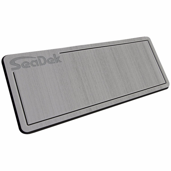 "SeaDek Removable Dual Density Helm Station Pad Storm gray on black 16"" X 39"""