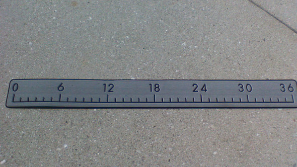 Measure Stick gray on black 36""