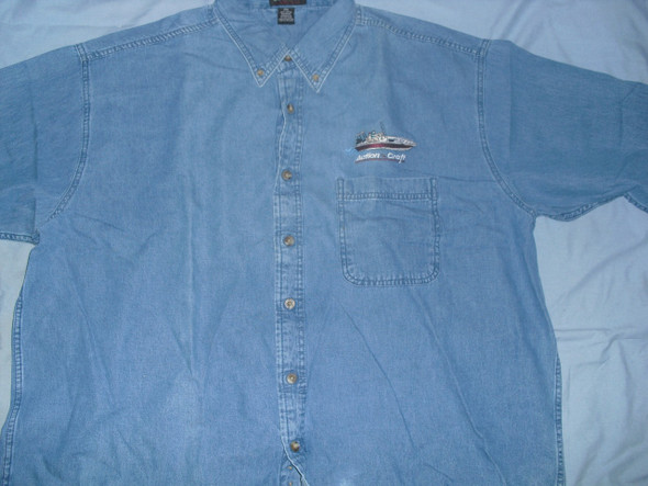 Action Craft long sleeve denim material 100% cotton embroidered