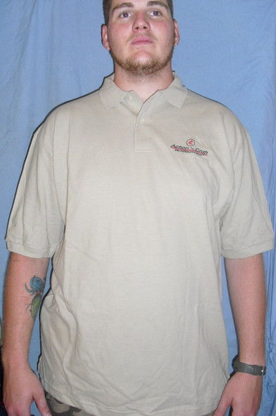 Action Craft Polo Tan short sleeve