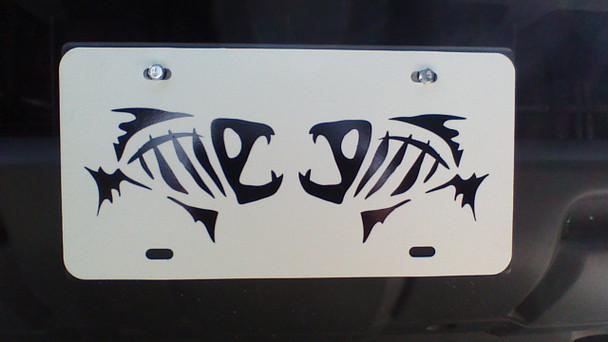 License Plate skeleton fish