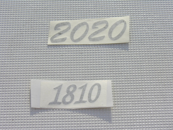 Model number console side decals pair