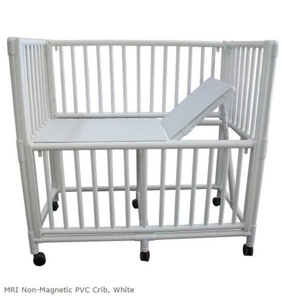 MRI Non-Magnetic PVC Crib, White