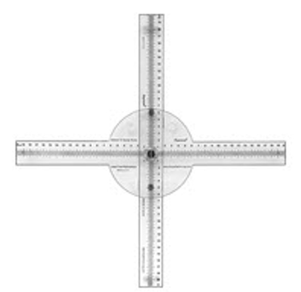 Radiopaque Light Field Centering Ruler