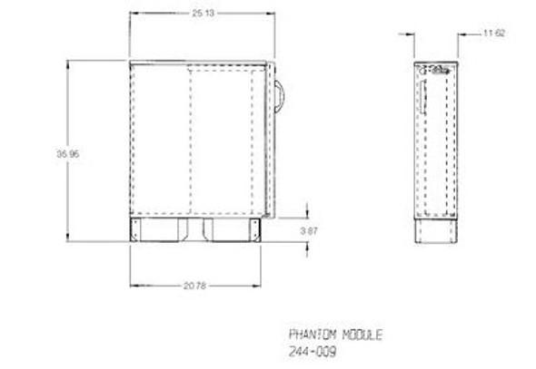 Lead Lined Phantom Cabinet