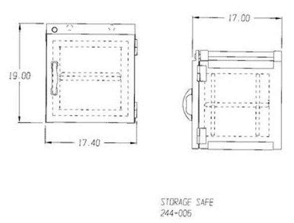 Lead Lined Storage Safe
