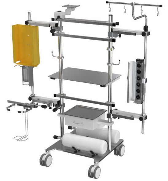 Stationary ICU Device Cart