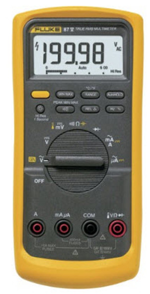 87V True RMS Industrial Multimeter with temperature