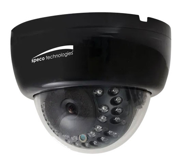 Single Fixed Focus Dome Camera System with LCD Monitor & wall mount