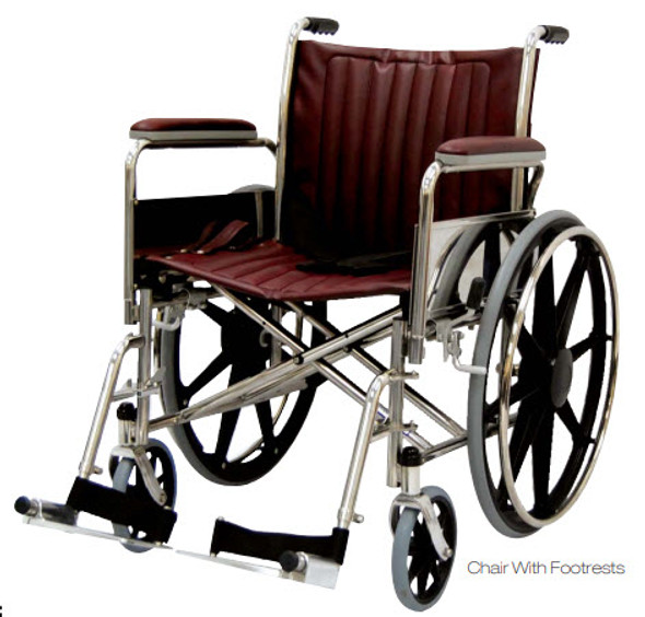 "20"" Wide MRI Wheelchair with Full Length Arms"