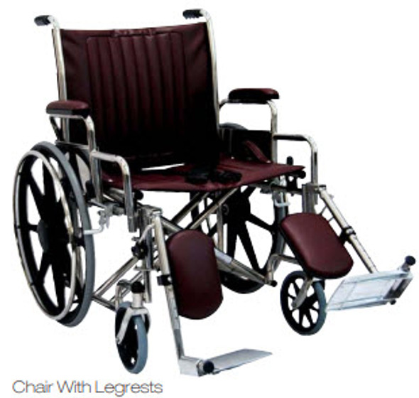 "22"" Wide MRI Wheelchair with Desk Length Arms"