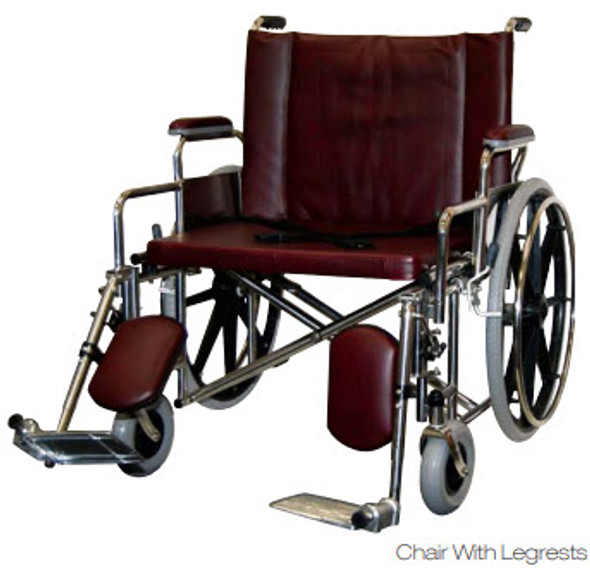 "26"" Wide BARIATRIC Wheelchair with Desk Length Arms"