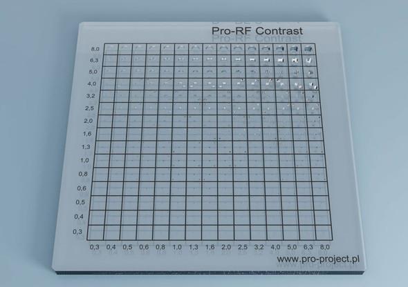 Pro-RF Contrast - radiography contrast detail phantom
