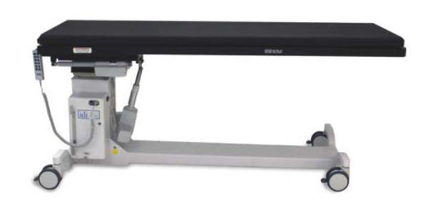 100RTL C-Arm table for GI and pain management procedures where tilt, roll and longitudinal tabletop movement is desired.