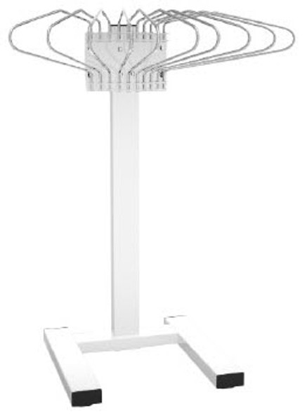 Mobile Pedestal Apron Rack
