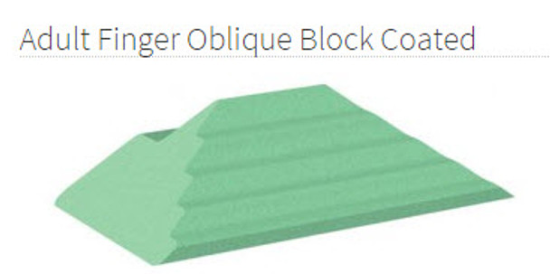 Adult Finger Oblique Block Coated - YCAA