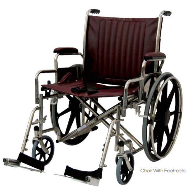 "24"" Wide MRI Wheelchair with Desk Length Arms"