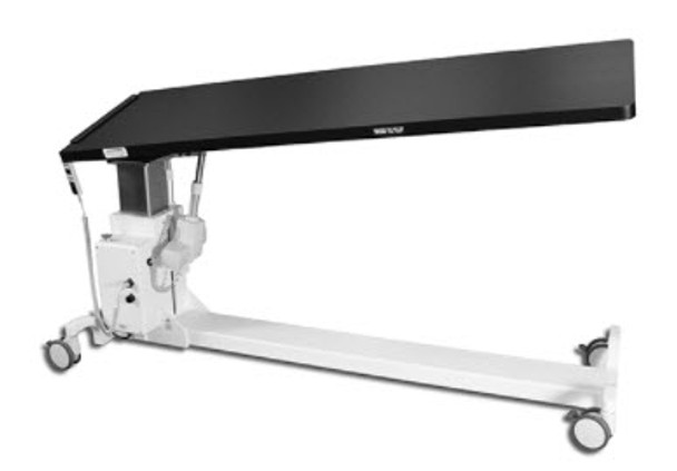 100RT - C-Arm table for GI and pain management procedures where motorized elevation, tilt , and lateral roll are required.