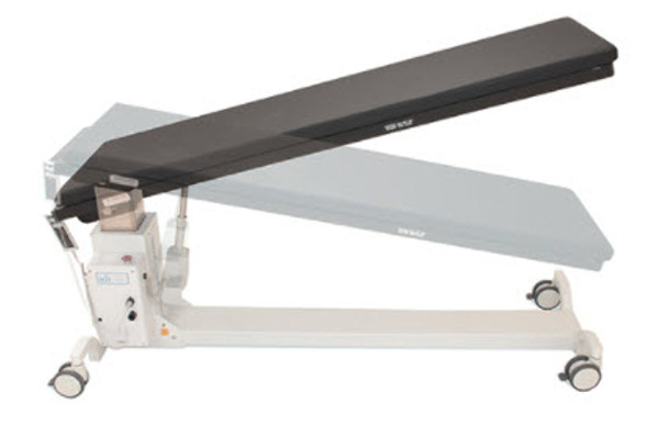 100T - C-arm table for pain management and other procedures where only motorized elevation and Trendelenburg tilt is required.