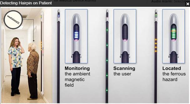Ferralert Solo - Ferromagnetic Detector for Zone II & III Pre- Screening
