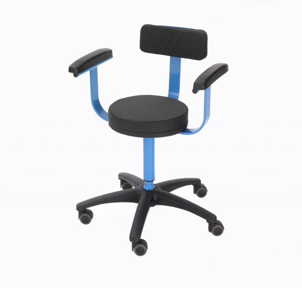 MRI Surgeons Stool with Armrests and Backrest