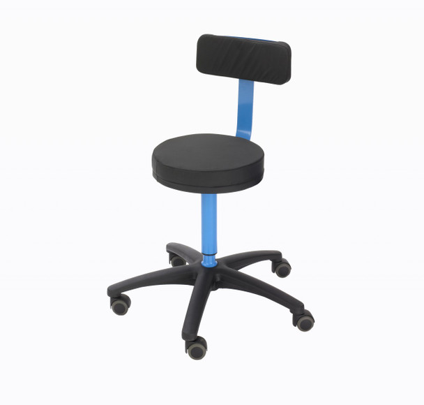 MRI Surgeons Stool with Backrest