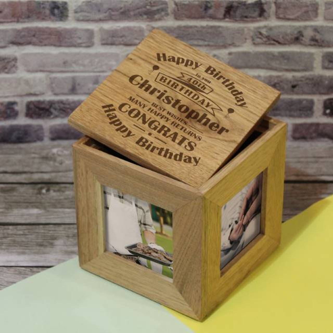 Personalised Birthday Celebration Photo Cube