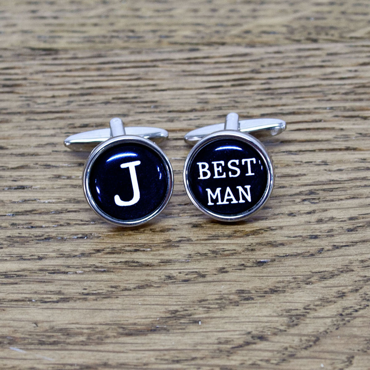 Personalised Best Man Typewriter Key Style Cufflinks Just Love Gifts Com