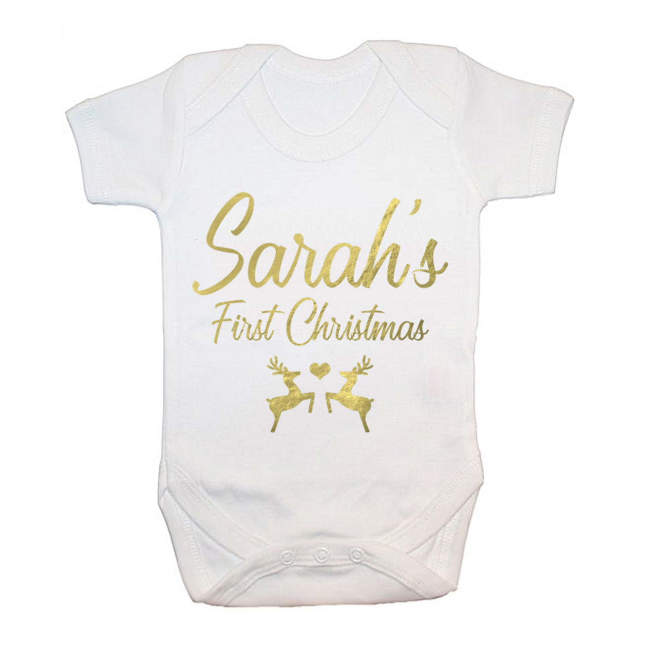 New Baby Christmas Gift Personalised First Christmas Baby Grow