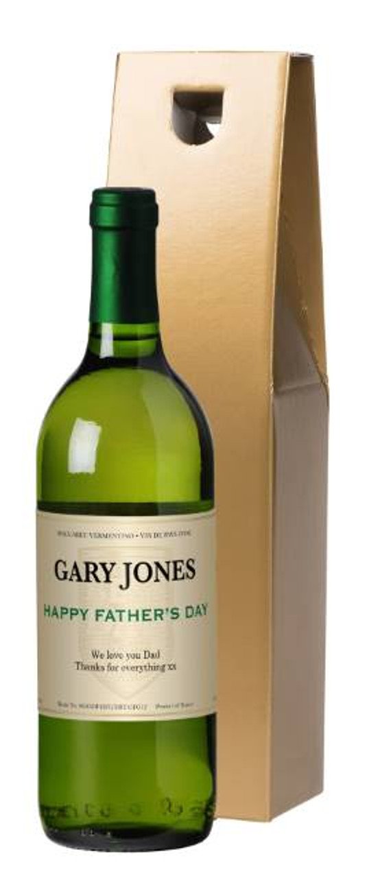 Fathers Day Wine Label Personalised Gift