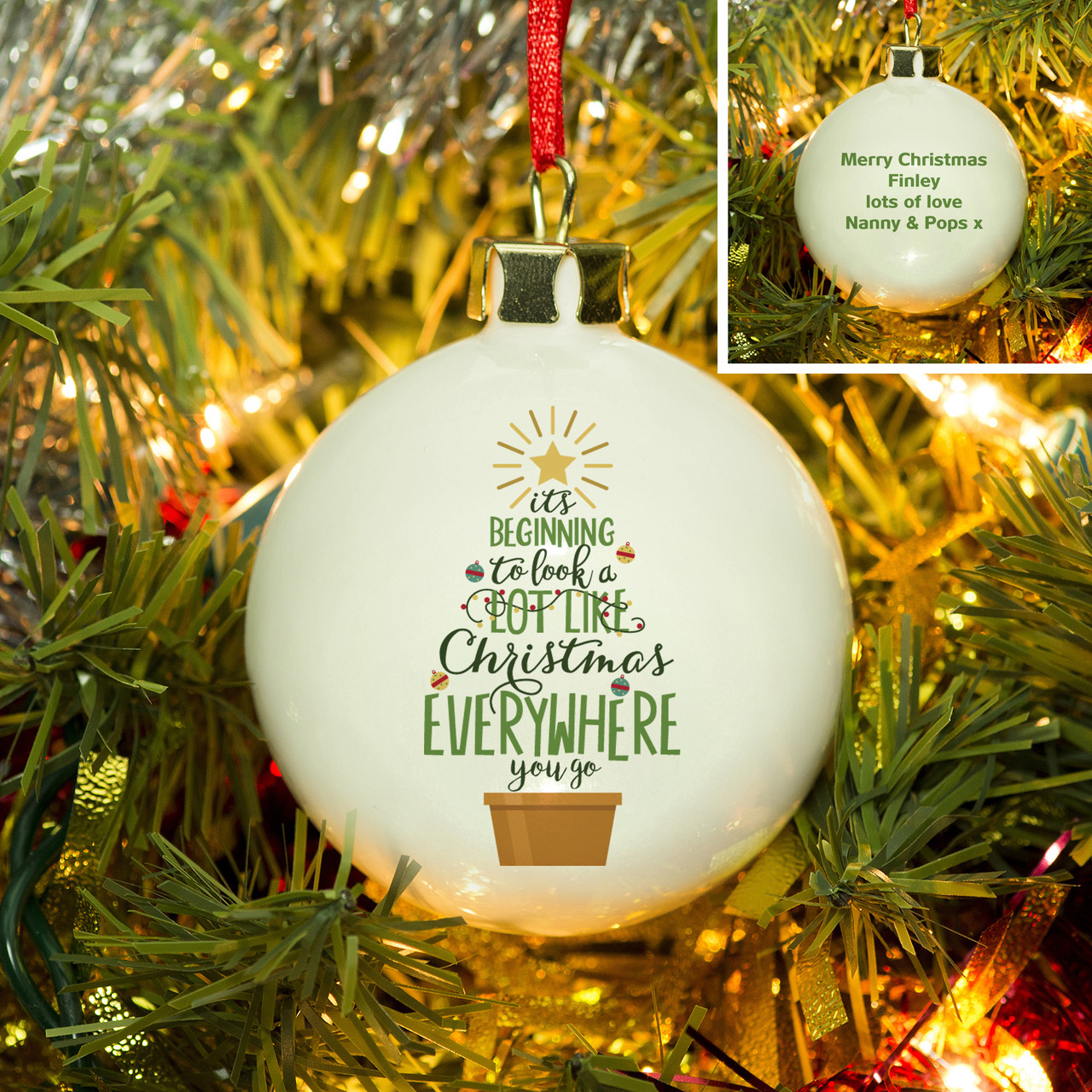 Its Beginning To Look Like Christmas.Personalised It S Beginning To Look A Lot Like Christmas Bauble