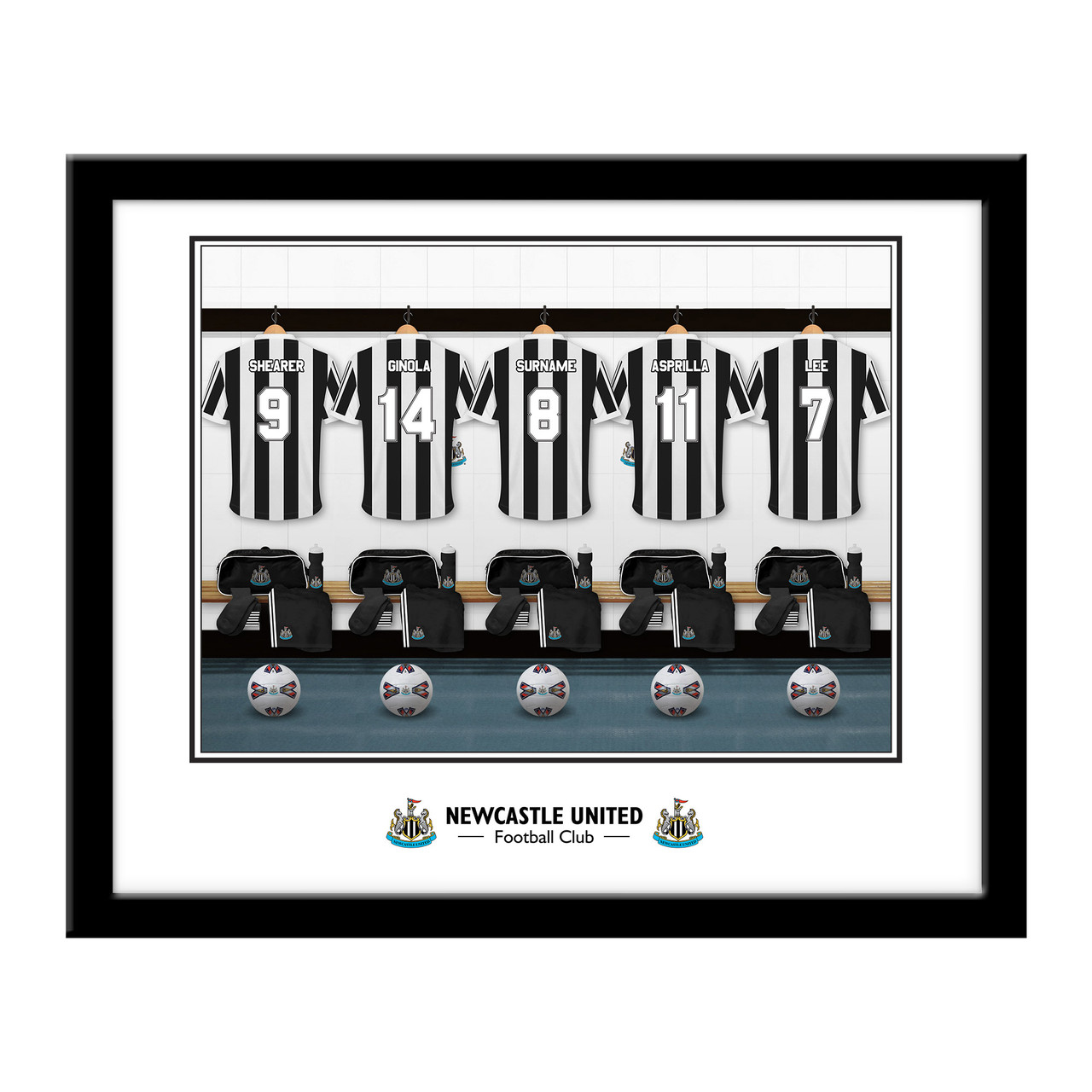 Home Changing Room Sign GIFT Newcastle United F.C PLAQUE