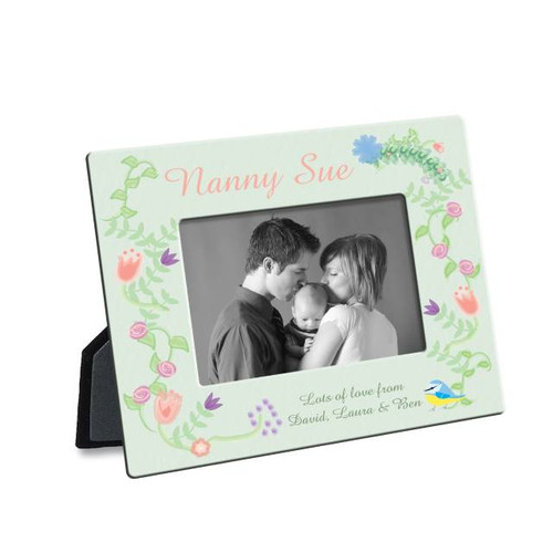 Treasure those special memories with our Spring Garden Photo Frame. Add the finishing touch to this classic design by adding your very own message